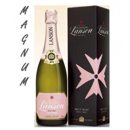 Magnum Lanson Rosé Label